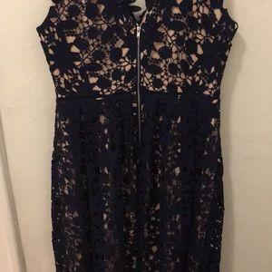 Soprano Dresses - SOPRANO Navy Blue Floral dress size Large